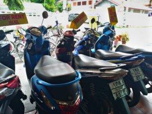 バイクか自転車を借りればどこでも行ける