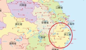 中国・浙江省に位置する都市