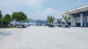 紹興北駅からはバス