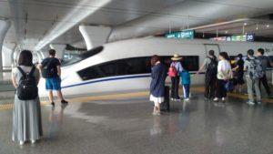 上海虹橋駅から高速鉄道を使う