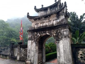 中国式の建物が残るホアルー