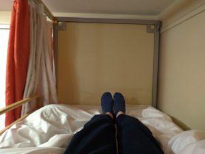 ベッドの空間も結構広い