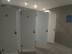 シャワールームが少ない