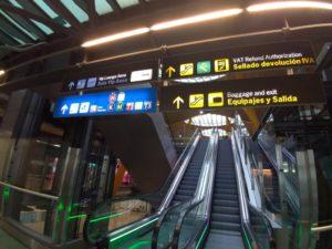 ターミナル4サテライトの最上階