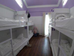 部屋は一般的なゲストハウスと同じ